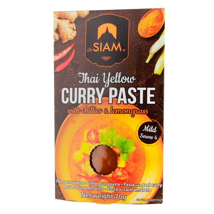 Pâte de curry jaune 70gr - De Siam