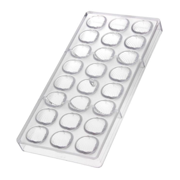 Moule en copolyester pour chocolats 24 empreintes escargot - Matfer