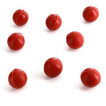 8 boules en chocolat rouges - Alice Délice