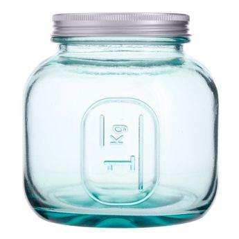 Achat en ligne Boîte de conservation en verre recyclé 1 L - Vidrios