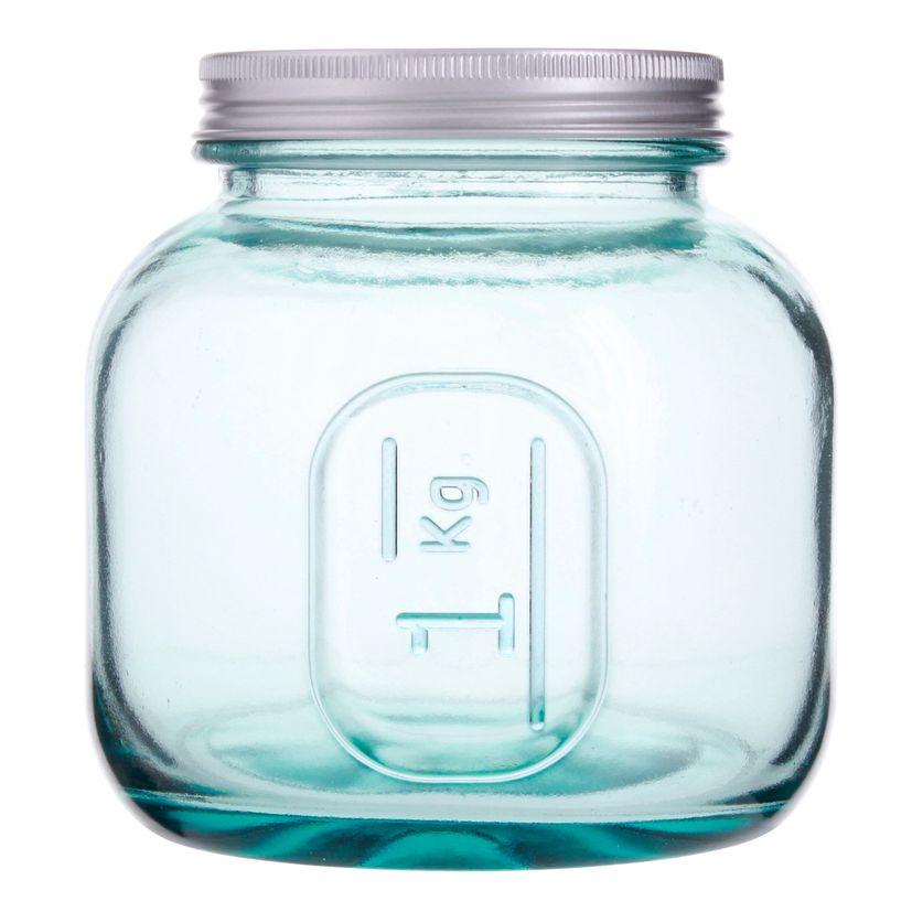 Boîte de conservation en verre recyclé 1 L - Vidrios