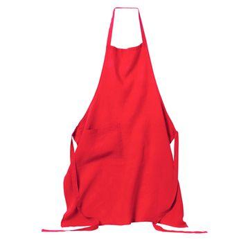 Tablier naïs 70x90 rouge 100% lin - Harmony