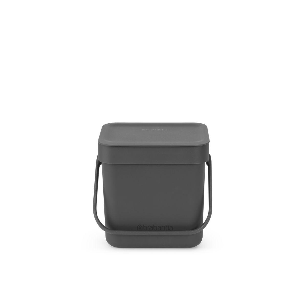 Poubelle Sort & Go grise 3l 13.9 x 18.8 x 17.4 cm - Brabantia