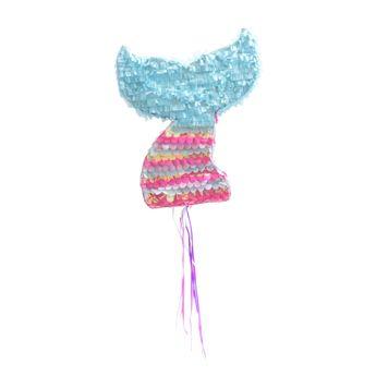 Piñata queue de sirène rose et bleue 45.5 x 39 x 9.5 cm - Scrapcooking