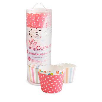 Achat en ligne 25 caissettes de cuisson assorties pour muffins et cupcakes diamètre 6 cm - Scrapcooking