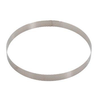 Achat en ligne Cercle à tarte en inox perforé 28.5 x 2 cm - De Buyer