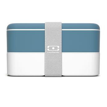 Achat en ligne Bento MB original denim bleu et blanc 1 l 9.4 x 10 x 18.5 cm - Monbento
