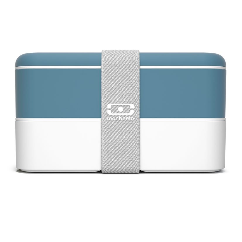 Bento MB original denim bleu et blanc 1 l 9.4 x 10 x 18.5 cm - Monbento
