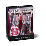 Coffret moulins sel et poivre Crystal 125 mm - Cole and Mason