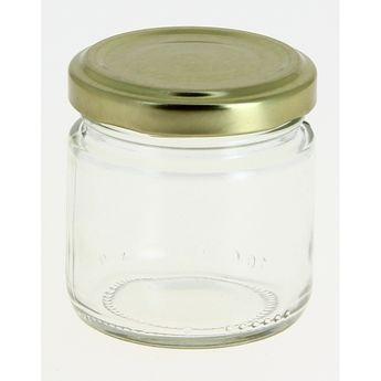 Achat en ligne Bocal de conservation en verre avec couvercle doré 100 ml - Cerve