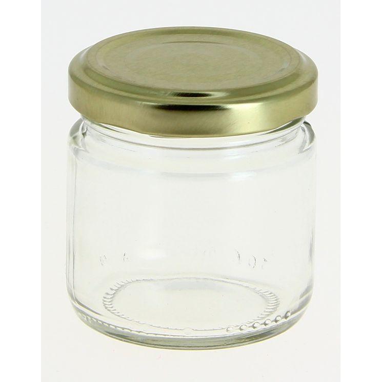 Bocal de conservation en verre avec couvercle doré 100 ml - Cerve