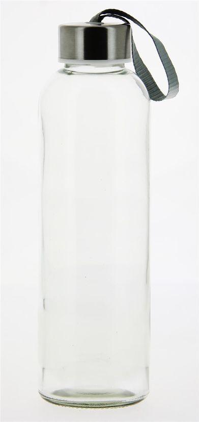 Gourde en verre transparent 0.5l 6.5 x 22.5 cm - Cerve
