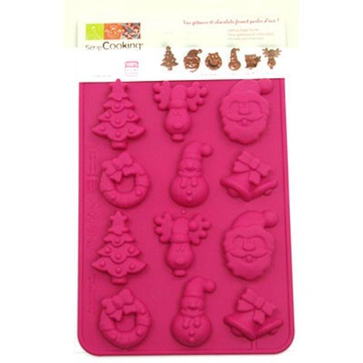 MOULE SILICONE CHOCOLATS DE NOEL - SCRAPCOOKING