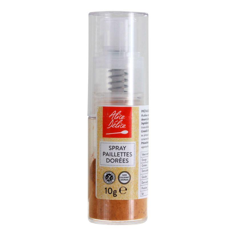 Spray paillettes dorées 10 gr