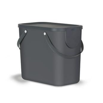Achat en ligne Poubelle Albula grise 25 l - Rotho