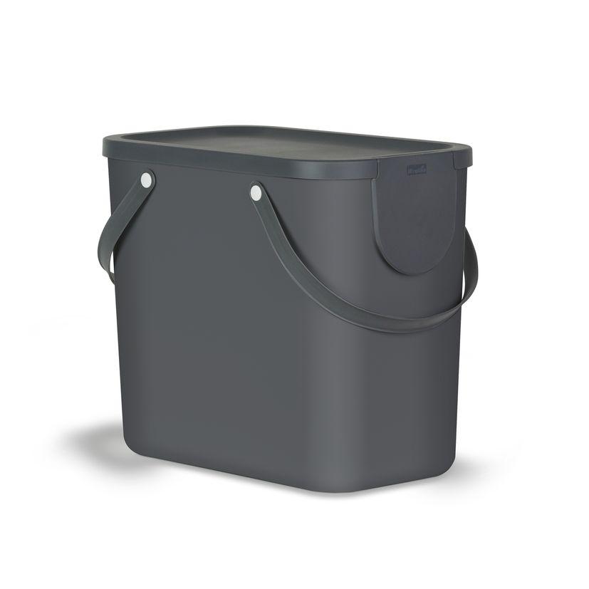 Poubelle Albula grise 25 l - Rotho