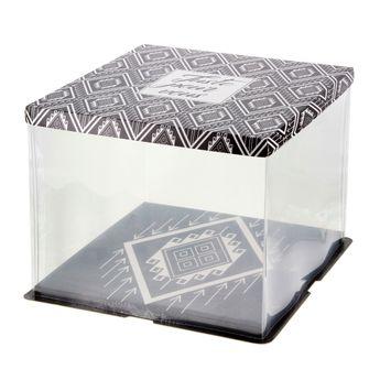 Boite de transport gatobox avec vitrine 26 x 26 x 24 cm - Patisdecor