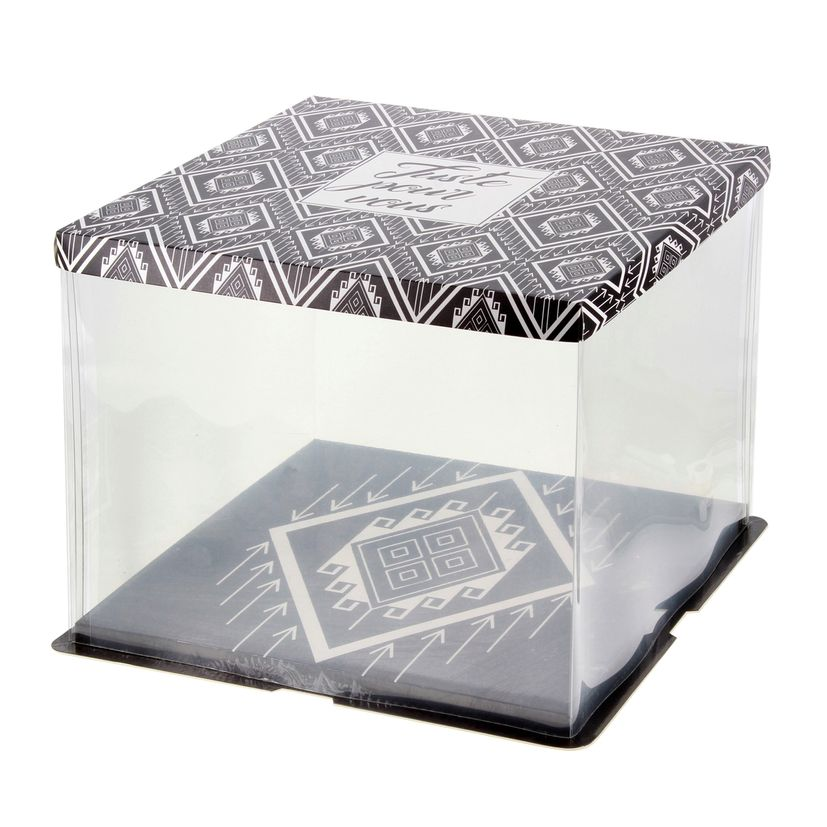 Boite à gâteaux vitrine 26 x 26 x 24 cm - Patisdecor