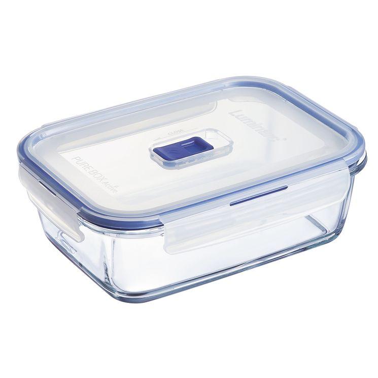 Boite hermétique Pure Box rectangulaire en verre 122cl 7.4x15.3x20.8cm - Luminarc