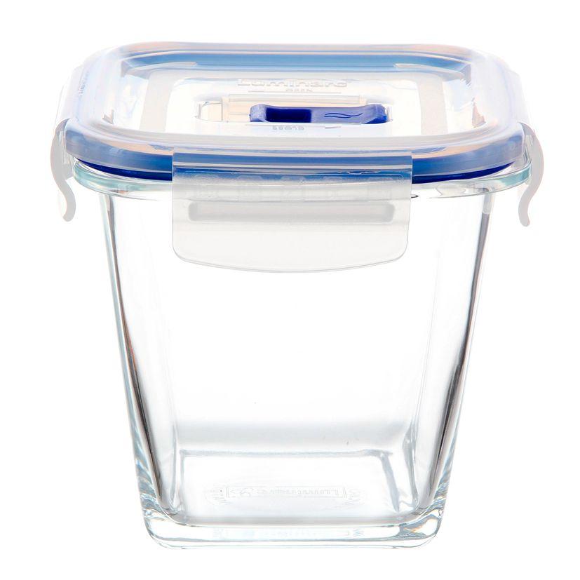 Boite hermétique Pure Box carrée en verre 75 cl 12.2 x 11.8 cm - Luminarc