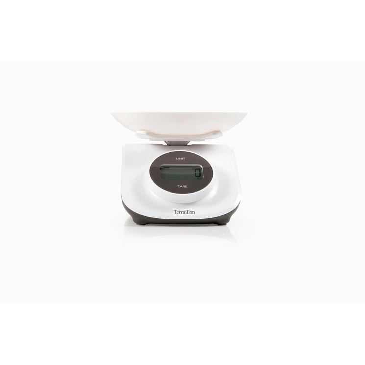Balance de cuisine avec bol dynamo grise sans pile ni batterie - Terraillon