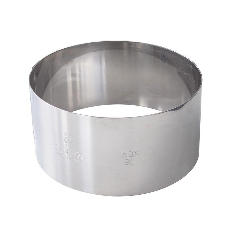 Cercle à mousse et entremets en inox 4.5 x 16 cm - Gobel