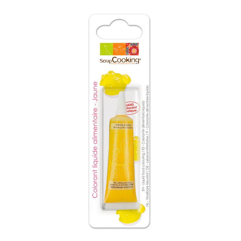 Colorant alimentaire liquide non azoïque jaune 10 gr - Scrapcooking