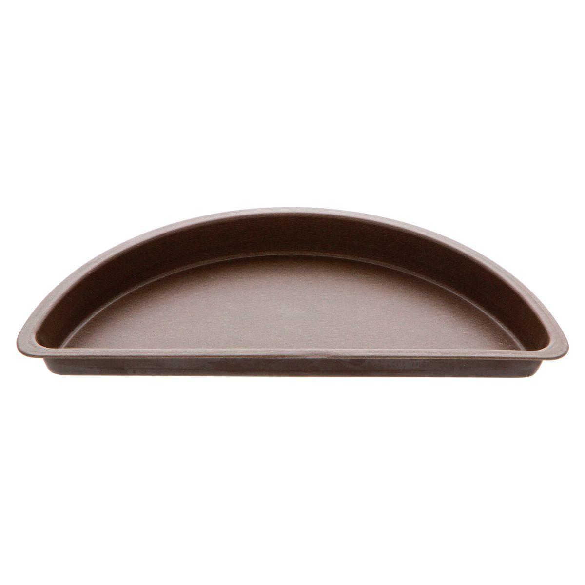 Moule demi tarte bords lisses marron anti adhérent 12 x 27.5 cm - Gobel