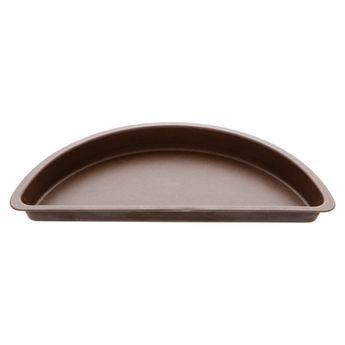 Achat en ligne Moule à demi tarte à bords lisses en métal anti adhérent 4/6 parts 27 cm - Alice Délice