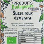 Sucre de canne roux non raffiné demerara bio 350 gr - Trésors de Chefs
