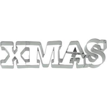 Achat en ligne Emporte-pièce en inox message XMAS Noël 14 cm - Birkmann