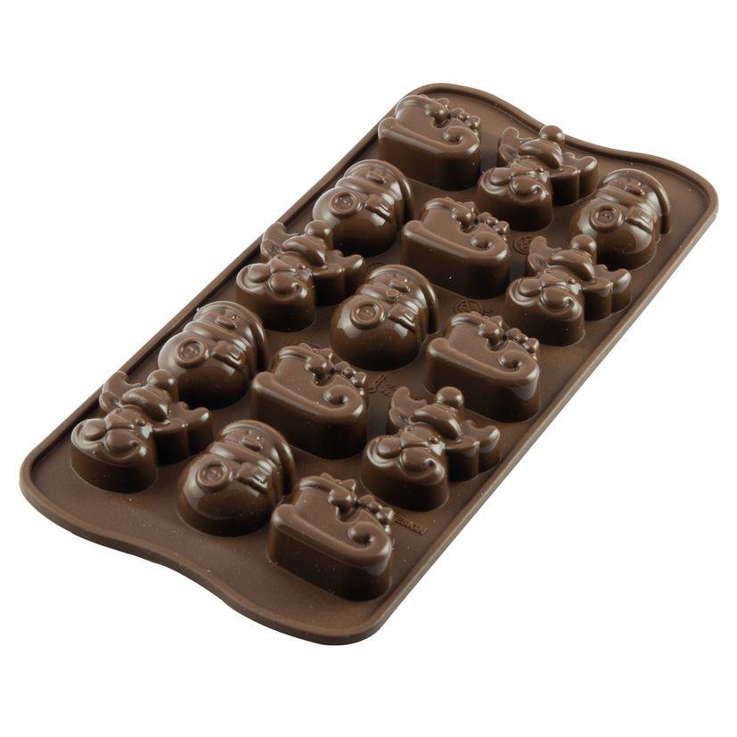 Moule à chocolat en silicone 15 sujets de Noël 11.5 x 24 cm - Silikomart
