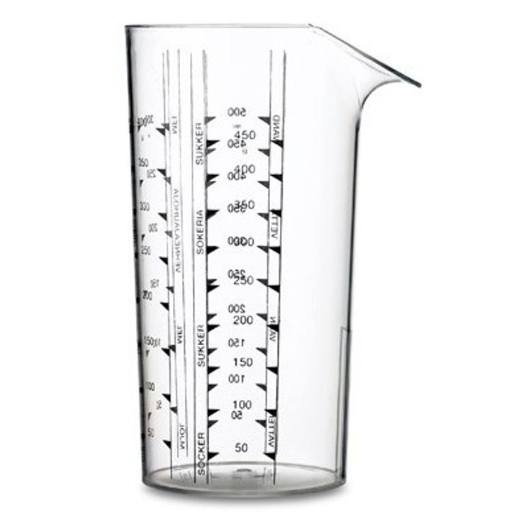 Verre mesureur 0.5l transparent - Rosti