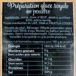 Préparation pour glace royale 250 gr - Trésors de Chefs
