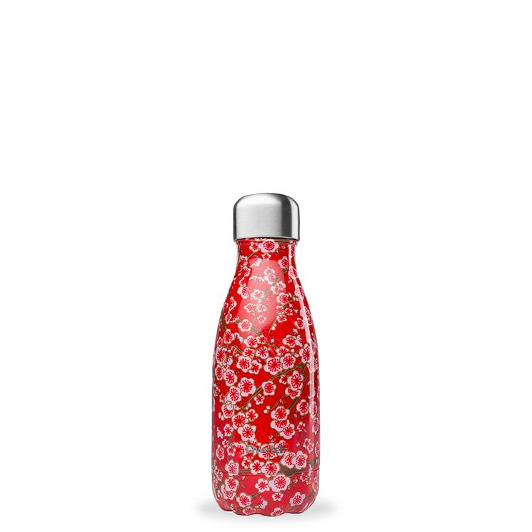 Bouteille isotherme inox 260ml Flower rouge - Qwetch