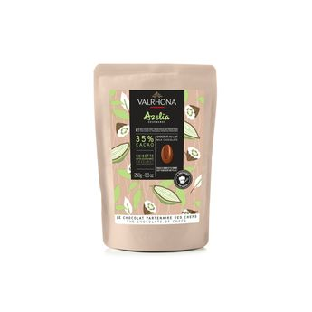 Achat en ligne Chocolat au lait et noisette à pâtisser Azelia 35%  250g - Valrhona