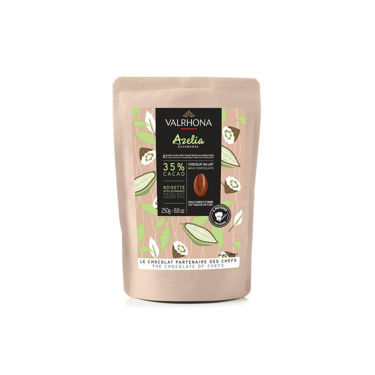 Chocolat au lait et noisette à pâtisser Azelia 35%  250g - Valrhona