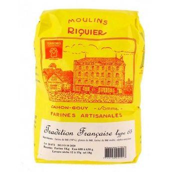 Achat en ligne Farine tradition française type 65 1 kg - Moulins Riquier
