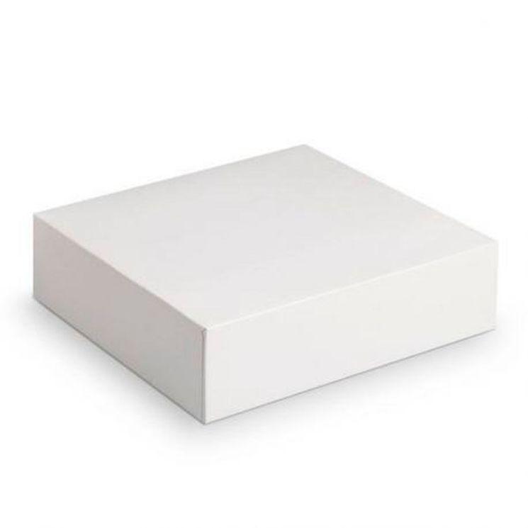 Boîte à gâteaux blanche 35 x 35 x 5 cm - Patisdecor