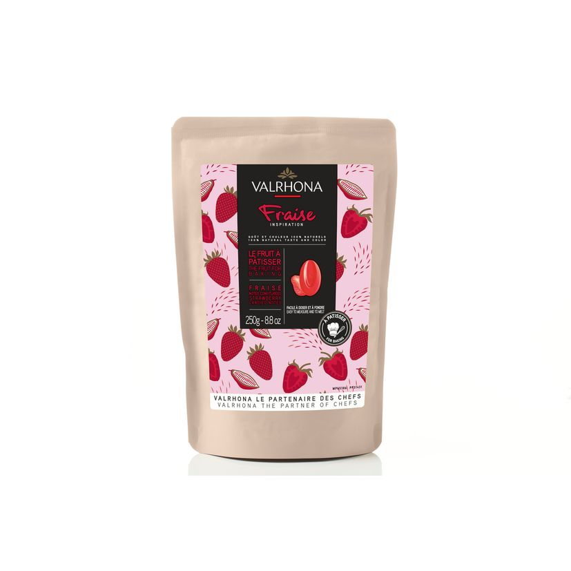 Chocolat à pâtisser inspiration fraise 250g - Valrhona