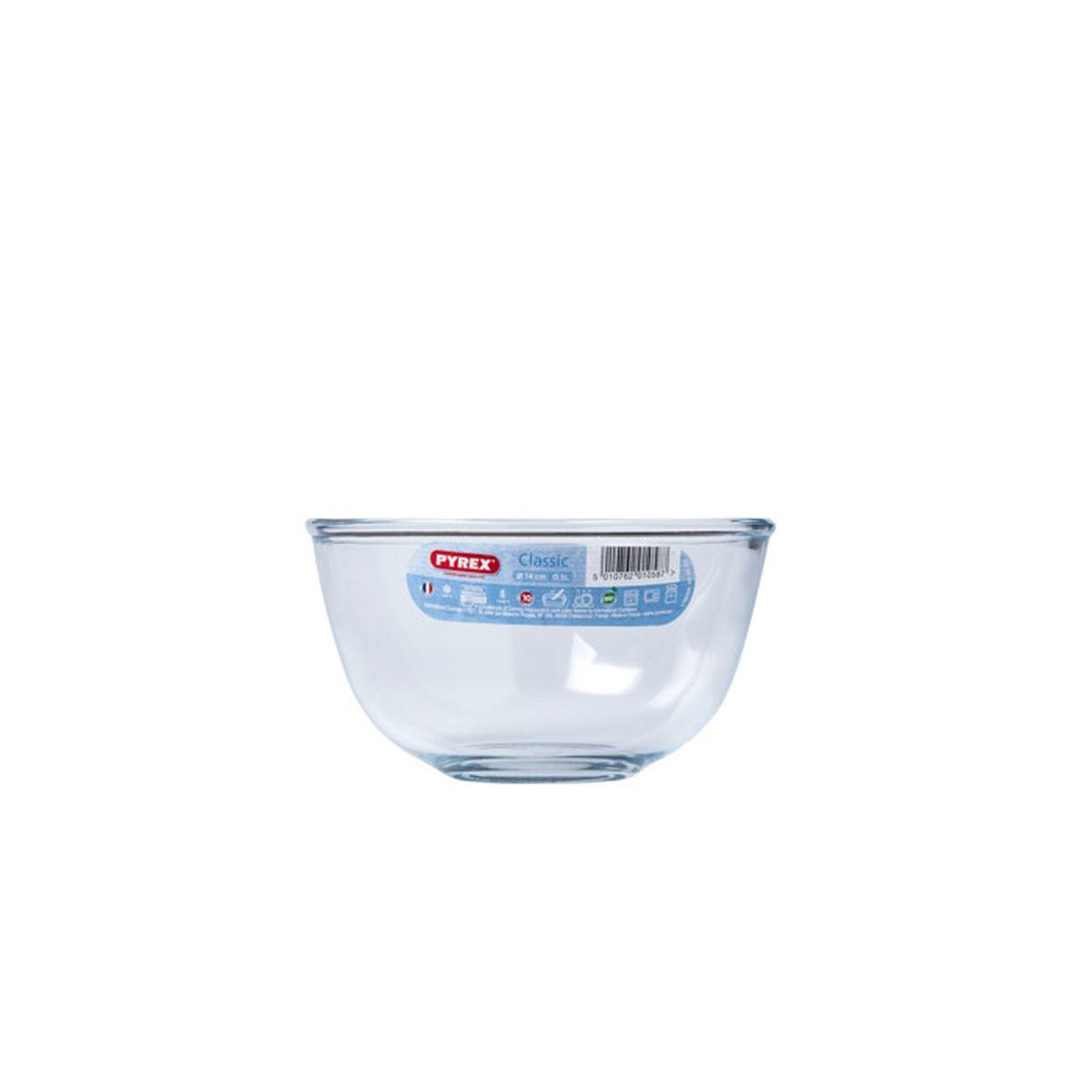 Bol de préparation en verre transparent 0.5 l - Pyrex
