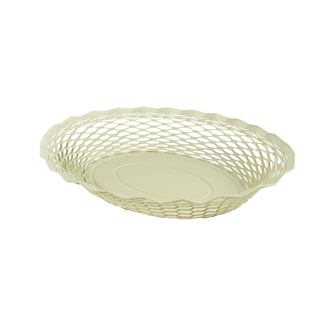 Corbeille à pain en inox blanc 24 x 18 cm - Roger Orfevre