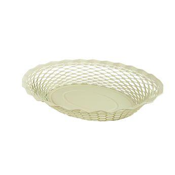 Achat en ligne Corbeille à pain en inox blanc 24 x 18 cm - Roger Orfevre