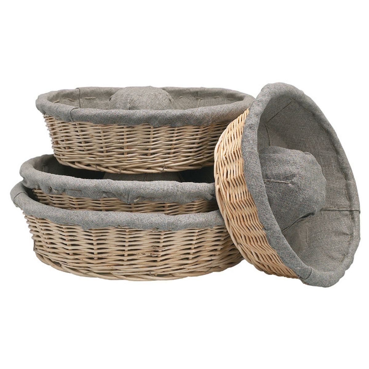 Banneton pour pain couronne en osier et toile de lin 29 cm - Matfer