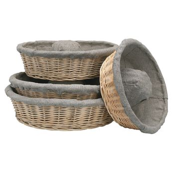 Achat en ligne Banneton pour pain couronne en osier et toile de lin 29 cm - Matfer