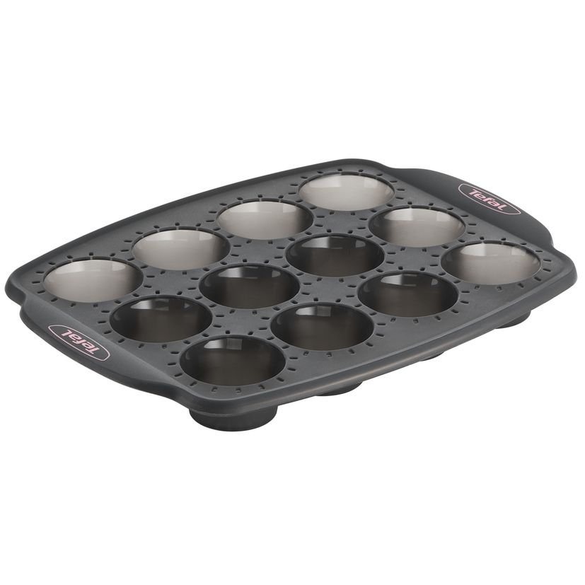 Moule 12 mini muffins en silicone pour machine Cake Factory KD802112 - Tefal