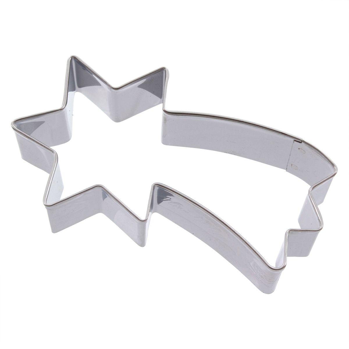 Emporte-pièce en inox étoile filante 8 cm - Alice Délice