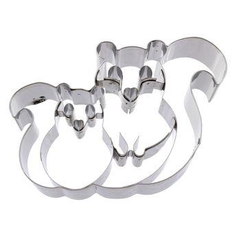 Achat en ligne Emporte-pièce en inox écureuil et son petit 12.5 cm - Birkmann