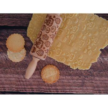 Achat en ligne Rouleau à empreintes en bois licorne 11 cm - Alice Délice