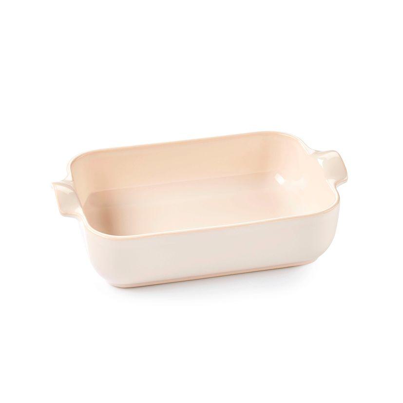 Plat à four rectangulaire avec anses en céramique ivoire 19 cm - Esprit de cuisine